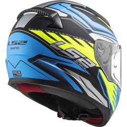 /capacete LS2 FF353 Gale azul tras